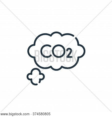 co icon isolated on white background from climate change collection. co icon trendy and modern co sy