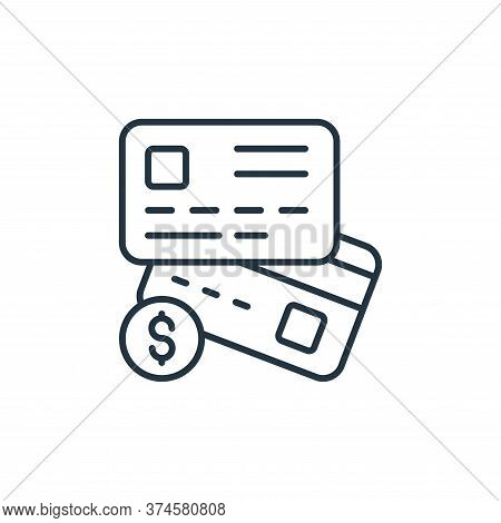 credit cards icon isolated on white background from retirement collection. credit cards icon trendy
