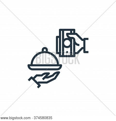 payment icon isolated on white background from food delivery collection. payment icon trendy and mod