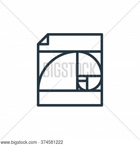 golden ratio icon isolated on white background from graphic design collection. golden ratio icon tre