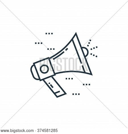 bullhorn icon isolated on white background from technology devices collection. bullhorn icon trendy