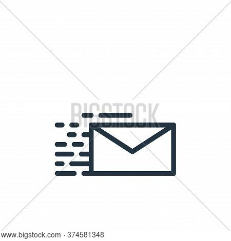 email icon isolated on white background from contact collection. email icon trendy and modern email