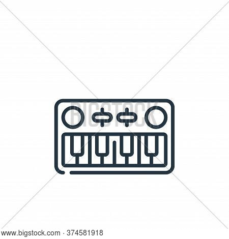 piano keyboard icon isolated on white background from music collection. piano keyboard icon trendy a