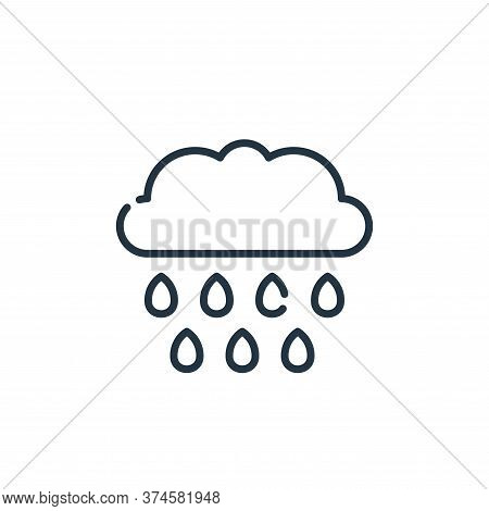 rain icon isolated on white background from climate change collection. rain icon trendy and modern r