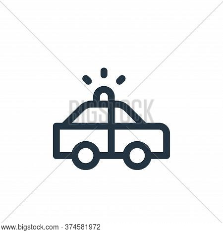 police car icon isolated on white background from emergencies collection. police car icon trendy and