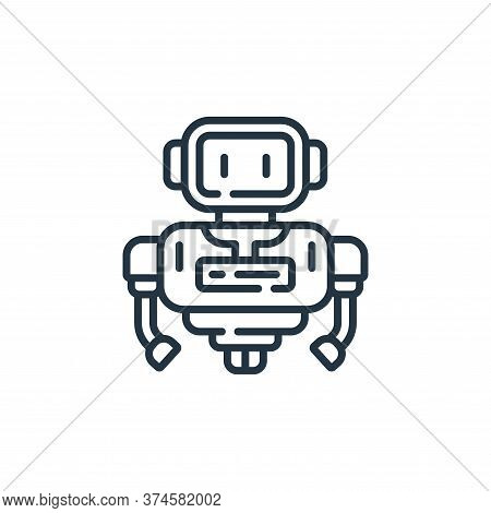robot icon isolated on white background from robotics collection. robot icon trendy and modern robot