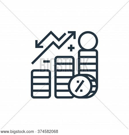 interest icon isolated on white background from economic crisis collection. interest icon trendy and