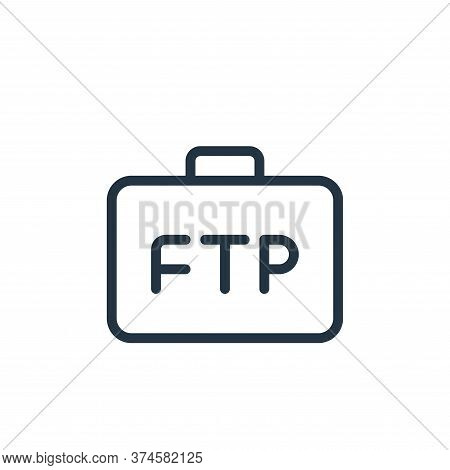 business icon isolated on white background from data transfer collection. business icon trendy and m