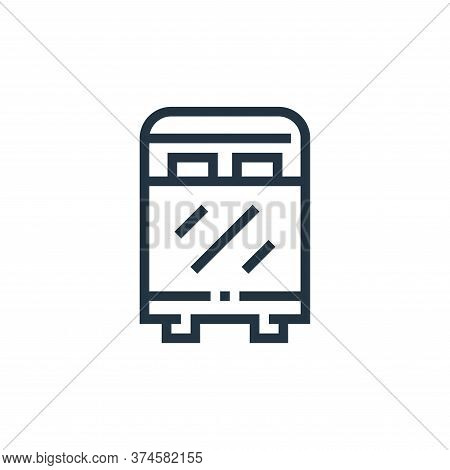 bed icon isolated on white background from inside home collection. bed icon trendy and modern bed sy