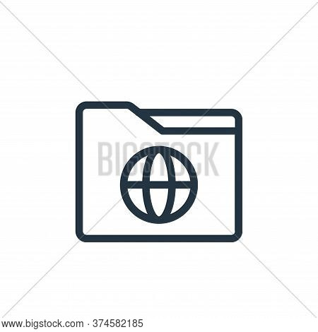 folder icon isolated on white background from online learning collection. folder icon trendy and mod