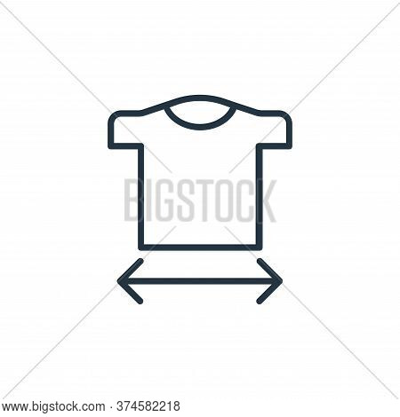 size guide icon isolated on white background from shopping line icons collection. size guide icon tr