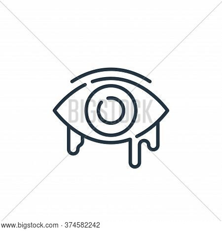 eye icon isolated on white background from allergies collection. eye icon trendy and modern eye symb