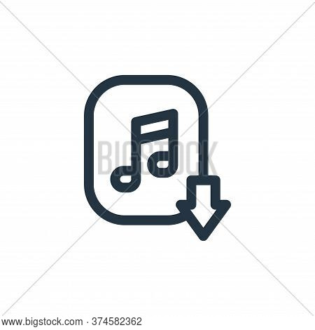 music download icon isolated on white background from music collection. music download icon trendy a