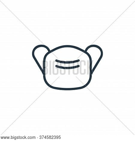 mask icon isolated on white background from covid collection. mask icon trendy and modern mask symbo