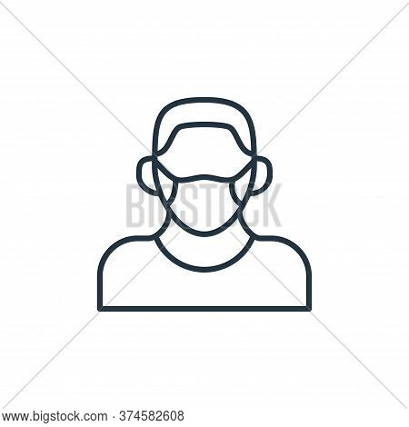 face mask icon isolated on white background from coronavirus disease collection. face mask icon tren