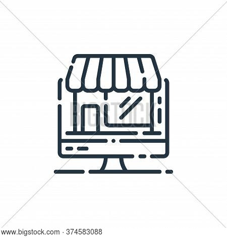 online store icon isolated on white background from startup collection. online store icon trendy and