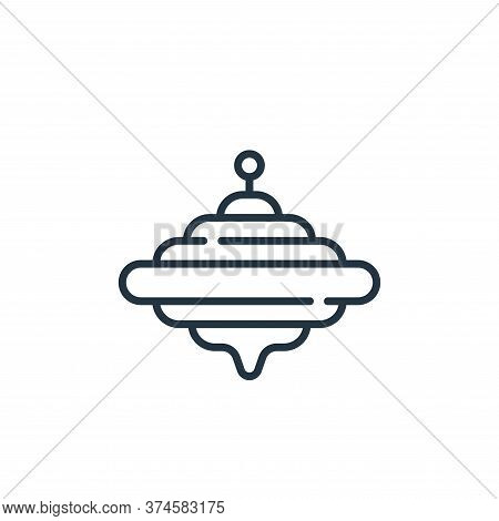 spinning top icon isolated on white background from children toys collection. spinning top icon tren