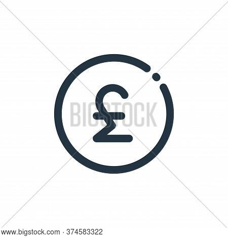 pound sign icon isolated on white background from currency collection. pound sign icon trendy and mo