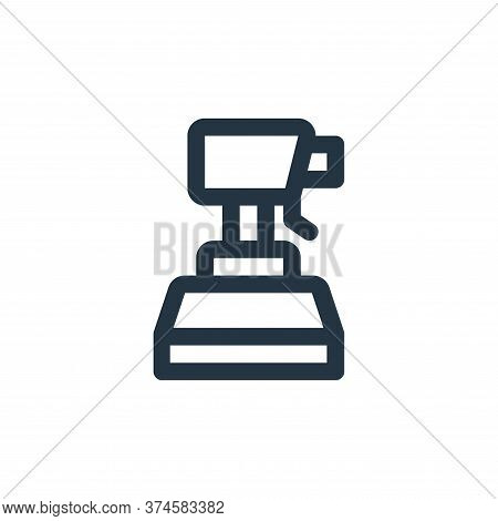 spray icon isolated on white background from virus transmission collection. spray icon trendy and mo
