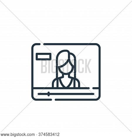 video icon isolated on white background from fame collection. video icon trendy and modern video sym