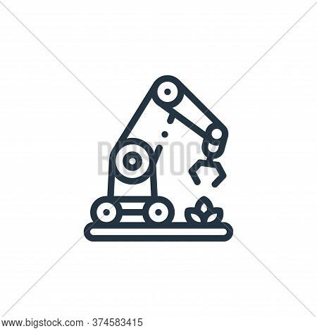 robotic arm icon isolated on white background from smart farm collection. robotic arm icon trendy an