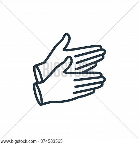 rubber gloves icon isolated on white background from stop virus collection. rubber gloves icon trend