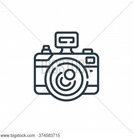 camera icon isolated on white background from social media collection. camera icon trendy and modern