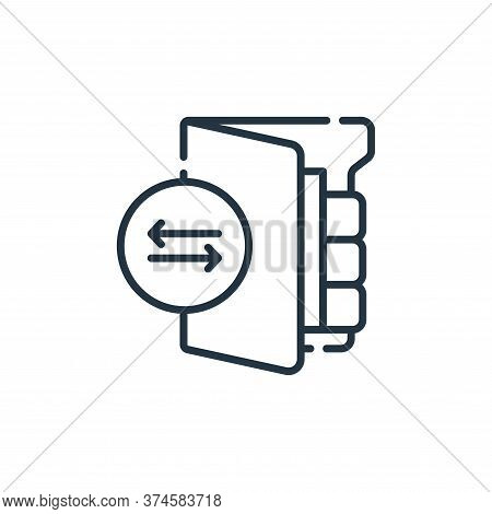 file transfer icon isolated on white background from database and servers collection. file transfer