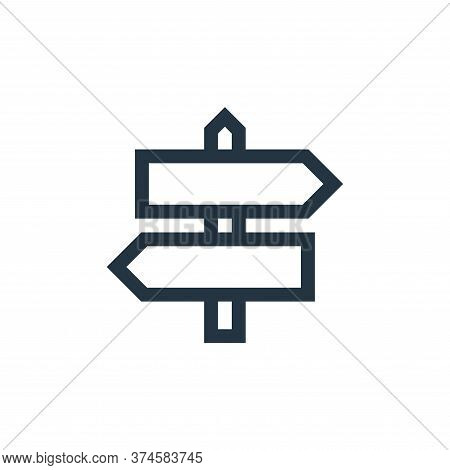 direction icon isolated on white background from web essentials collection. direction icon trendy an