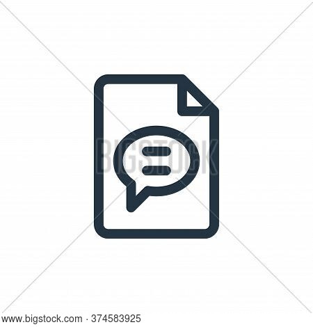 chat icon isolated on white background from document and files collection. chat icon trendy and mode