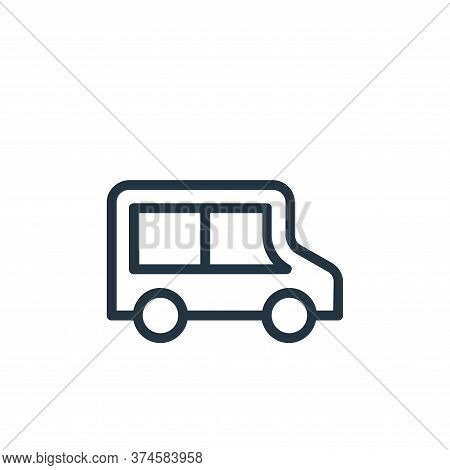 delivery van icon isolated on white background from banking and finance flat icons collection. deliv