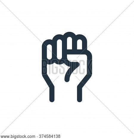 raise hand icon isolated on white background from labour day collection. raise hand icon trendy and