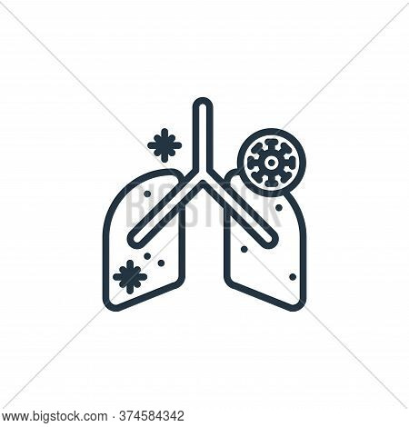 anatomy icon isolated on white background from virus collection. anatomy icon trendy and modern anat