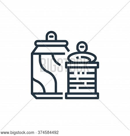 can icon isolated on white background from recycling collection. can icon trendy and modern can symb