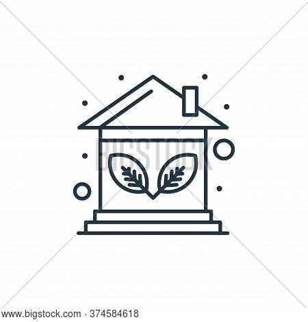 eco house icon isolated on white background from earth day collection. eco house icon trendy and mod