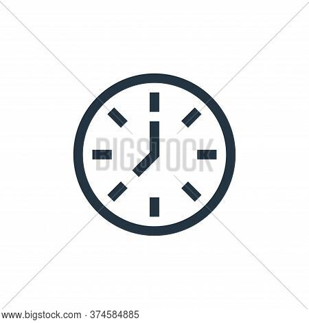 clock icon isolated on white background from management collection. clock icon trendy and modern clo