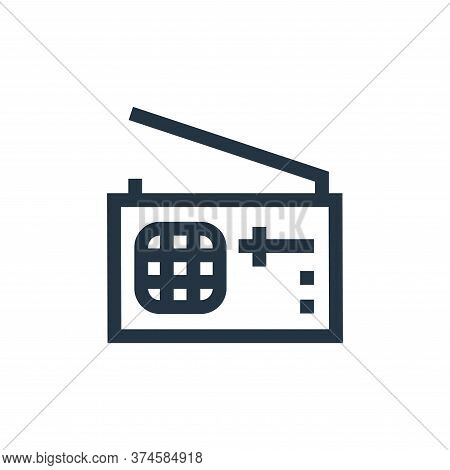 listen icon isolated on white background from hobbies collection. listen icon trendy and modern list