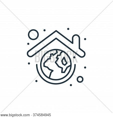 earth globe icon isolated on white background from earth day collection. earth globe icon trendy and