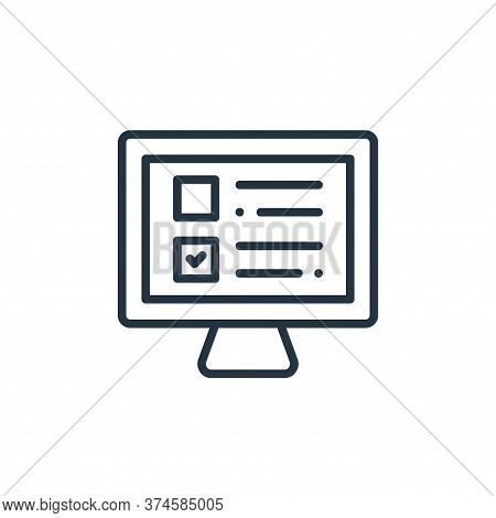exam icon isolated on white background from online learning collection. exam icon trendy and modern