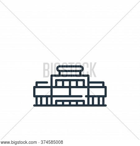 mall icon isolated on white background from mall collection. mall icon trendy and modern mall symbol