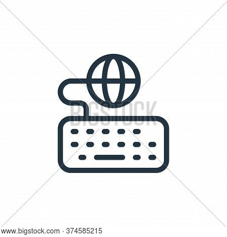 keyboard icon isolated on white background from online learning collection. keyboard icon trendy and