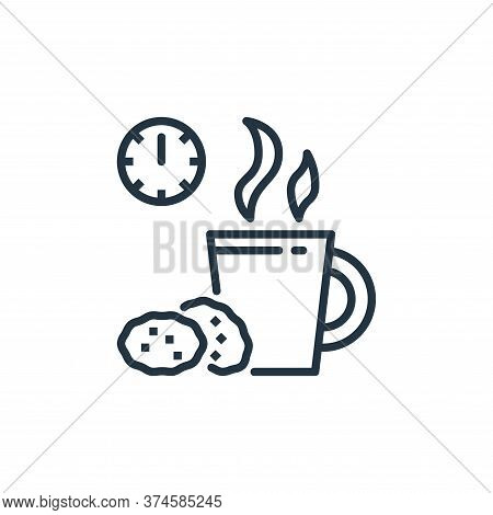 coffee break icon isolated on white background from work from home collection. coffee break icon tre