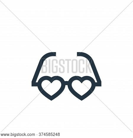 glasses icon isolated on white background from hippies collection. glasses icon trendy and modern gl