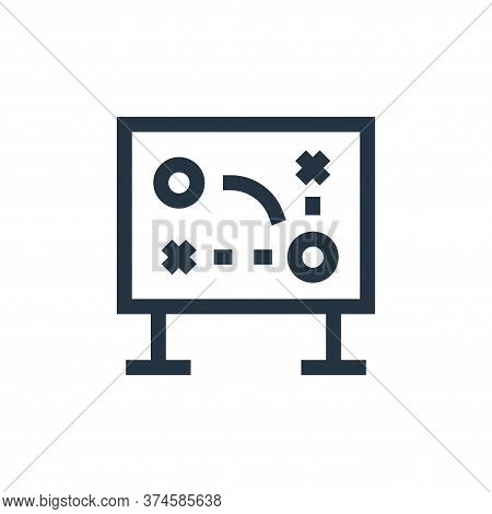 game strategy icon isolated on white background from soccer collection. game strategy icon trendy an