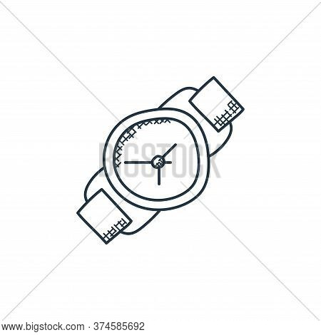 wristwatch icon isolated on white background from technology collection. wristwatch icon trendy and