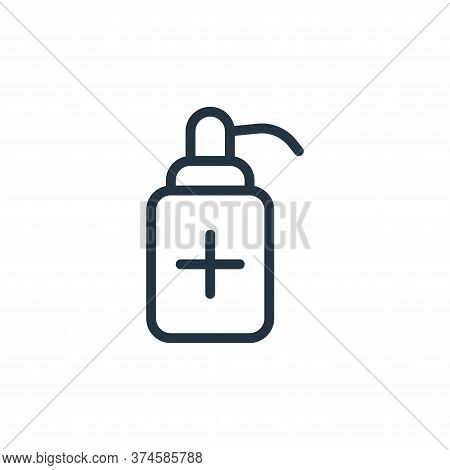 sanitizer icon isolated on white background from coronavirus collection. sanitizer icon trendy and m