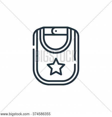 baby bib icon isolated on white background from maternity collection. baby bib icon trendy and moder