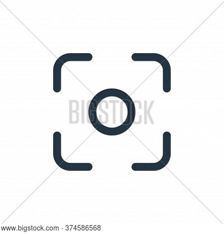 lens icon isolated on white background from interface collection. lens icon trendy and modern lens s