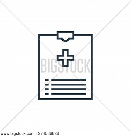 medical report icon isolated on white background from medical tools collection. medical report icon