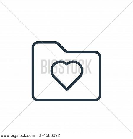 love icon isolated on white background from folder collection. love icon trendy and modern love symb